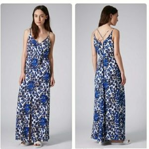 Topshop Island Animal Print Maxi Dress 6